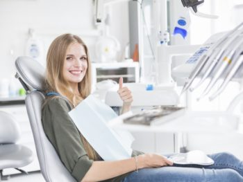Woman at the Dental Office